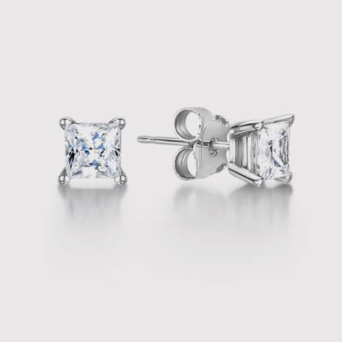 Mordern Princess Diamond Earrings
