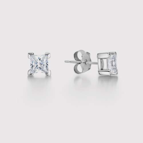 Traditional Princess Diamond Earrings