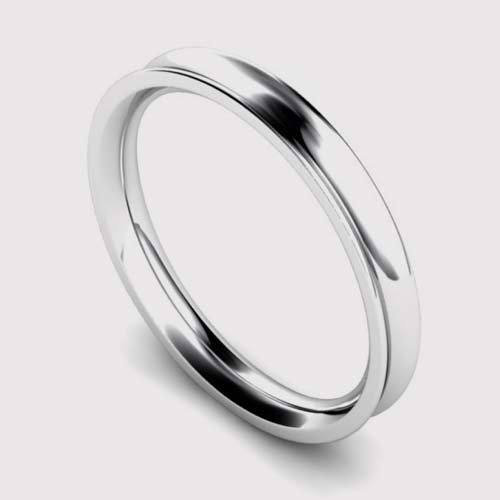 2.5mm Concave Shape Wedding Ring